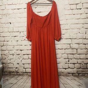 🆕NastyGal Chiffon Beach Maxi Dress, Size 8